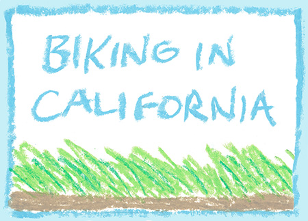 Biking in California webcomic by Eric Erbes.