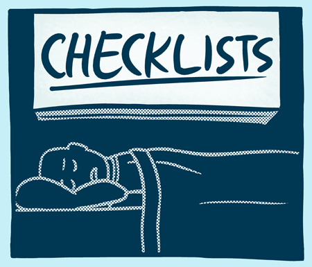 Checklists webcomic title