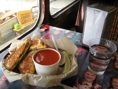 Sample meal from the Grilled Cheese Grill foodcart in the Kerns neighborhood.