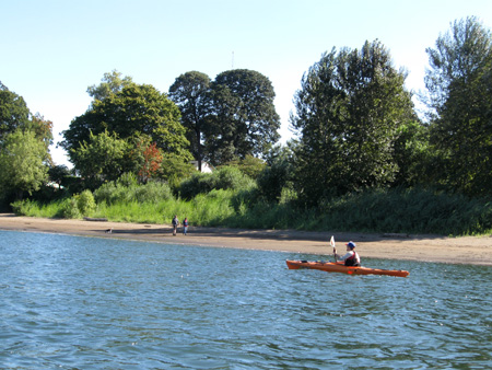Kayaking on the Willamette River.
