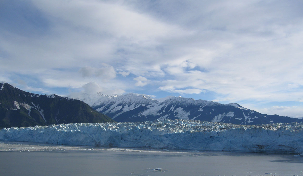 Hubbard Glacier on a clear day