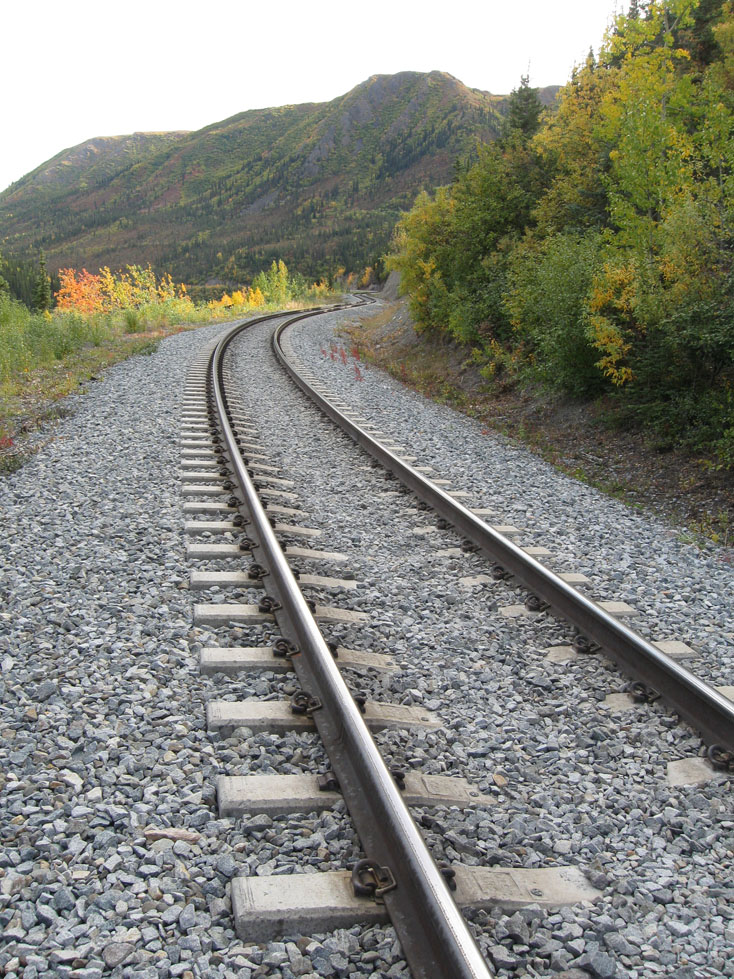 train tracks near Denali, Alaska