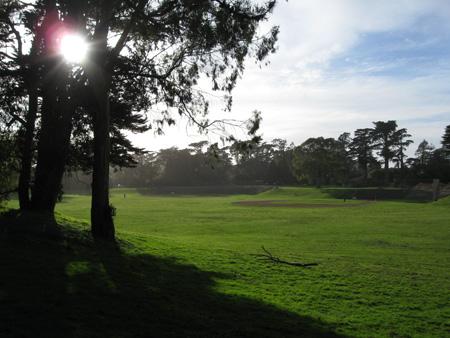 Golden Gate Park baseball field.