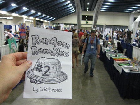 Handing out mini-comics at 2011 WonderCon comic convention.