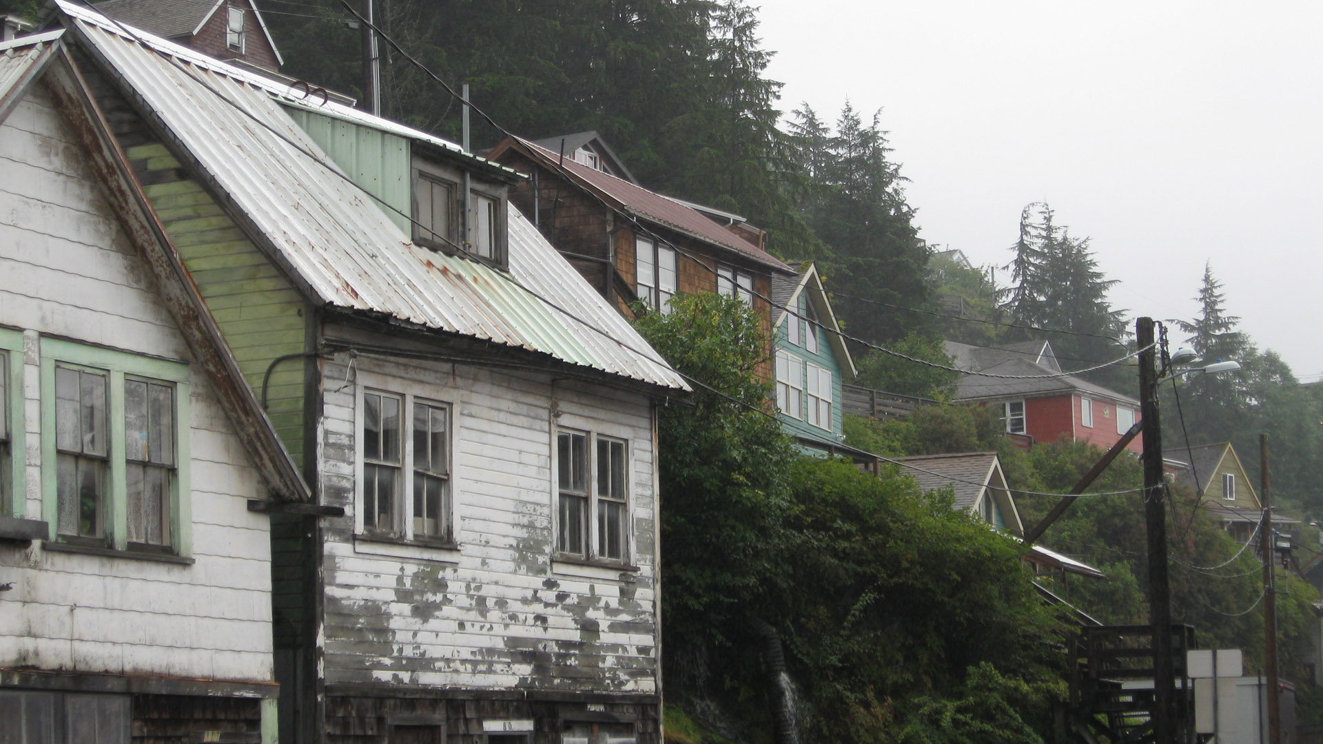 Ketchikan houses widescreen wallpaper, 1920 by 1080