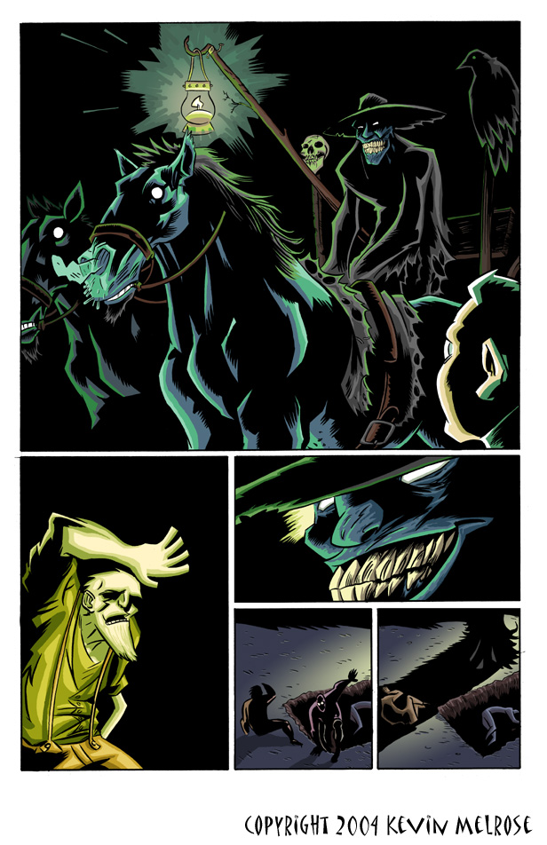 Gothic graveyard coloring sample by Eric Erbes