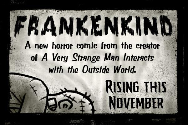 promotional ad for Frankenkind comic